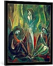 Kunst für Alle Cuadro con Marco: Hermann Stenner Auferstehung - Impresión artística Decorativa con Marco, 65x75 cm, Negro/Canto Gris