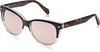 Fossil Square Sunglasses for Unisex - Rose Lens