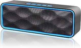 人気版 NETVIP Bluetooth5.0 スピーカーポータブル ステレオ ワイヤレススピーカー デュアルドライバー 内蔵マイクハンズフリー通話 重低音 大音量 bluetooth speaker AUXポート&TFカードスロット&FMラジ...