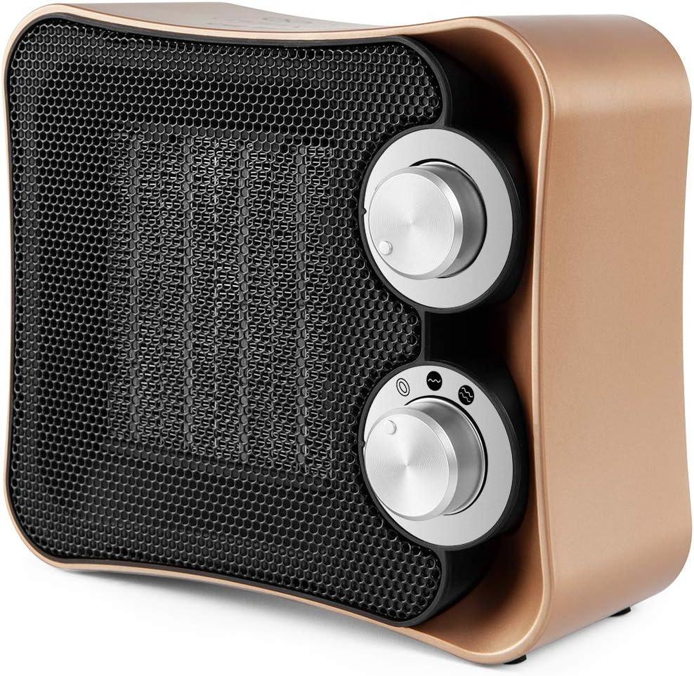 Orbegozo CR 6010 - Calefactor cerámico, 2 niveles de potencia, función ventilador aire frío, indicador luminoso, 1200 W