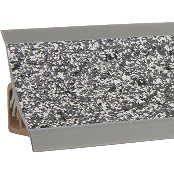HOLZBRINK Au/ßenecke passend zum Dekor Ihrer Abschlussleisten Nuss dunkel Au/ßenkante PVC K/üchenabschlussleiste 23x23 mm