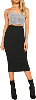 fitted jersey maxi skirt