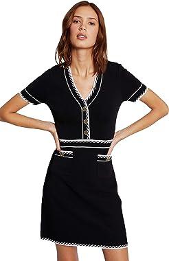 Morgan Robe Tricot Fine Rayure Rmrose Casual Dress Femme