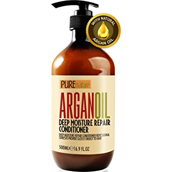 Moroccan Argan Oil Conditioner SLS Sulfate Free - Best Hair Conditioner for Damaged, Dry, Curly or Frizzy Hair - Thickening for Fine / Thin Hair, Safe for Color and Keratin Treated Hair