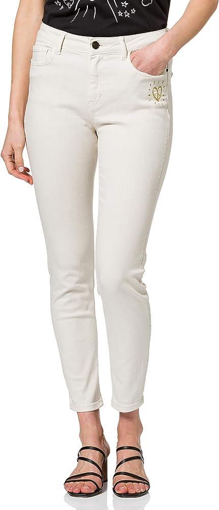 Desigual ,pantaloni casual per donna,90% cotone, 8% polyestere, 2% elastane 21SWPN08B