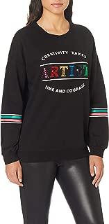 DeFacto Kadın Sweatshirt'ler Kol Şerit Detaylı Baskılı Sweatshirt