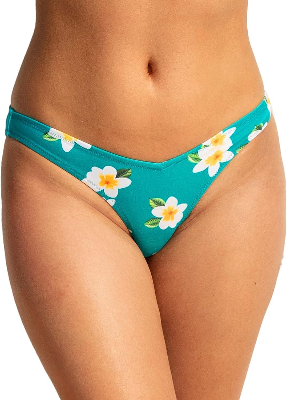 CUPSHE Women's Floral Bikini Bottom V Cut Low Waisted Bathing Suit