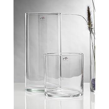 40cm klar INNA Glas Bodenvase Glas SANSA Blumenvase // Glasvase Ø19cm