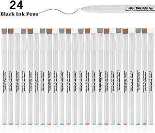Black Ink Gel Pens, Taotree 24 Pack Cute Pens Japanese Kawaii Cat Gel Pens, Ultra Fine Point 0.38mm Fine Tip Pen Set Rollerball Pens for Stationary School Office Supplies, Great Art Crafts Scrapbooks