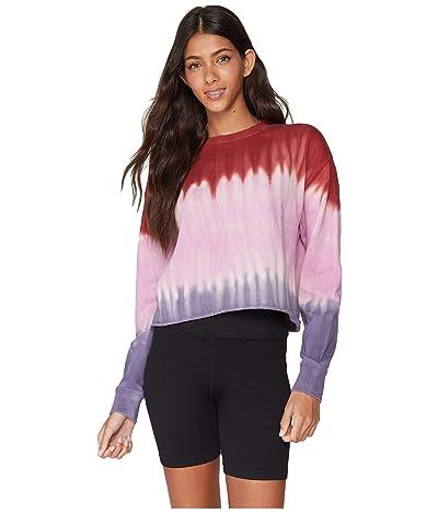Spiritual Gangster Mazzy Pullover Sweatshirt (Fall Knights Dip-Dye) Women