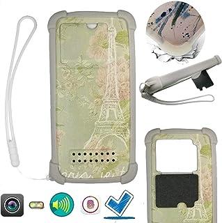 Case For Tecno Spark 4 Lite Case Silicone border + PC hard backplane Stand Cover SYTT
