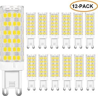 Limoko G9 LED Light Bulb, 60W G9 Halogen Bulb Replacement, Non-Dimmable 120V 6W Daylight White 6000K G9 LED Bulbs 12-Pack