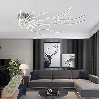 Plafonnier LED, 10 anneaux 140W Lustre Dimmable Creative Acrylique Design Lampe Plafonnier Éclairage Plafonnier Moderne po...