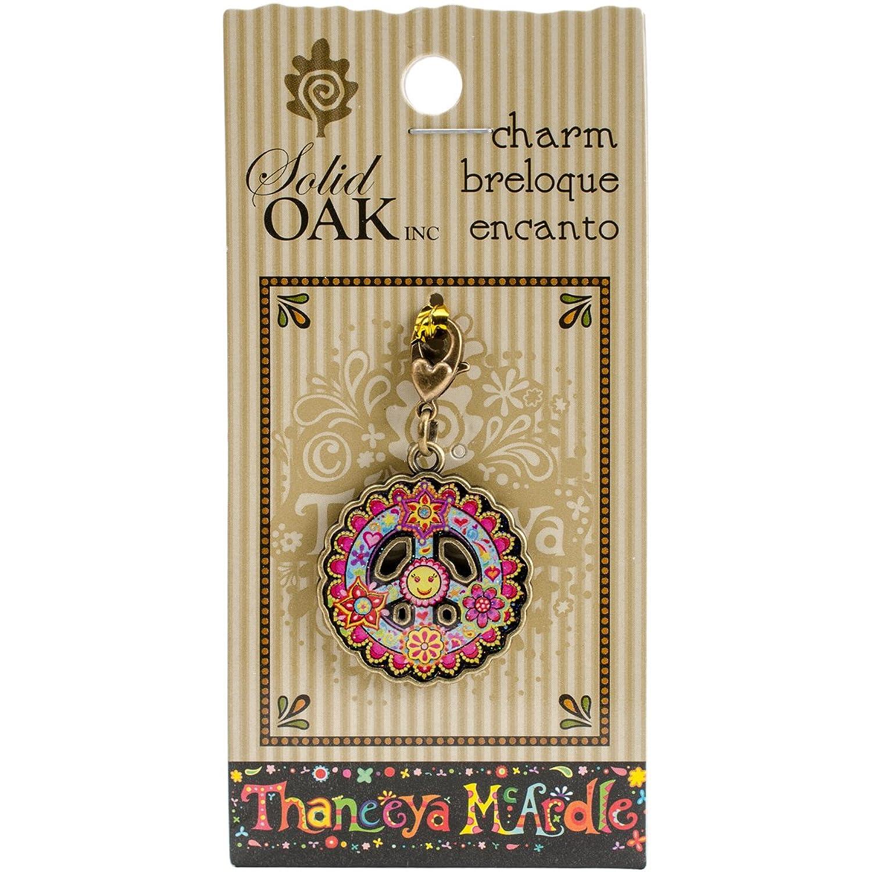 Solid Oak TM042 Thaneeya(R) LLC Acrylic Charm 1/Pkg-Peace Sign