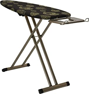 """MISC Ironing Board-Steel Top 18.5""""x51"""" Gold and Black Painted 4 Leg with Wheels Pattern Cover Steel"""