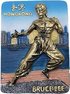 3D中国香港ブルースリー冷蔵庫冷蔵庫マグネット観光客のお土産樹脂磁気ステッカーホーム&キッチンの装飾から旅行ギフト