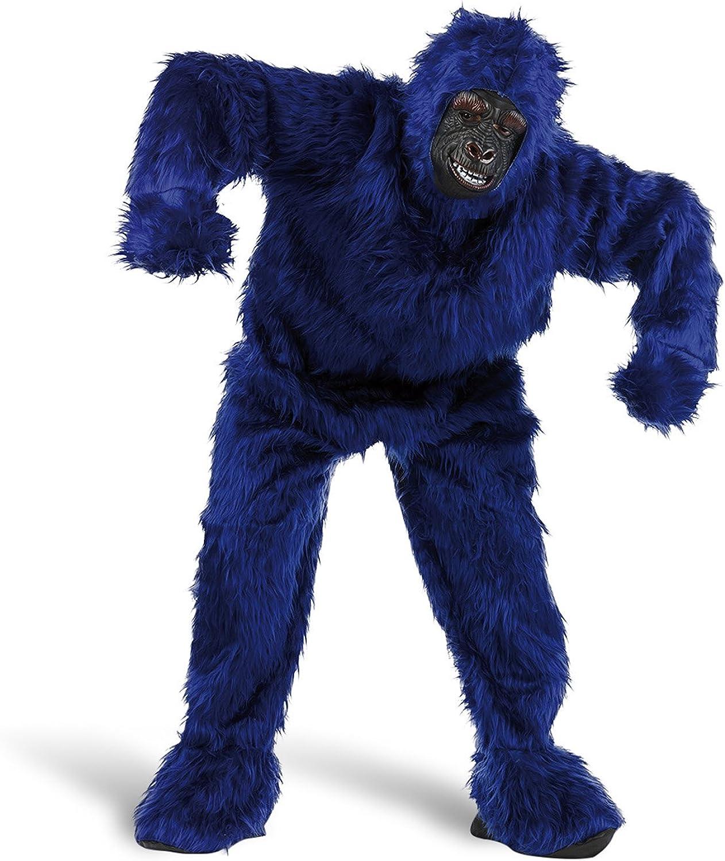 mejor calidad Limit Sport - Disfraz de peluche gorila para adultos, Color Color Color azul, talla XL (MA067Z)  con 60% de descuento