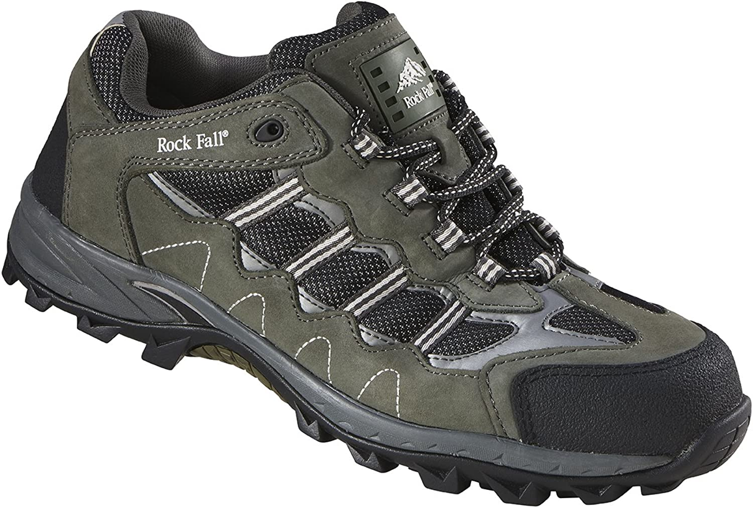 Rockfall Men's Summit Carbon Metal Free Safety Trainer US Size 7 Grey