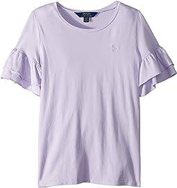 Ruffled-Sleeve Crew Neck T-Shirt (Little Kids/Big Kids)