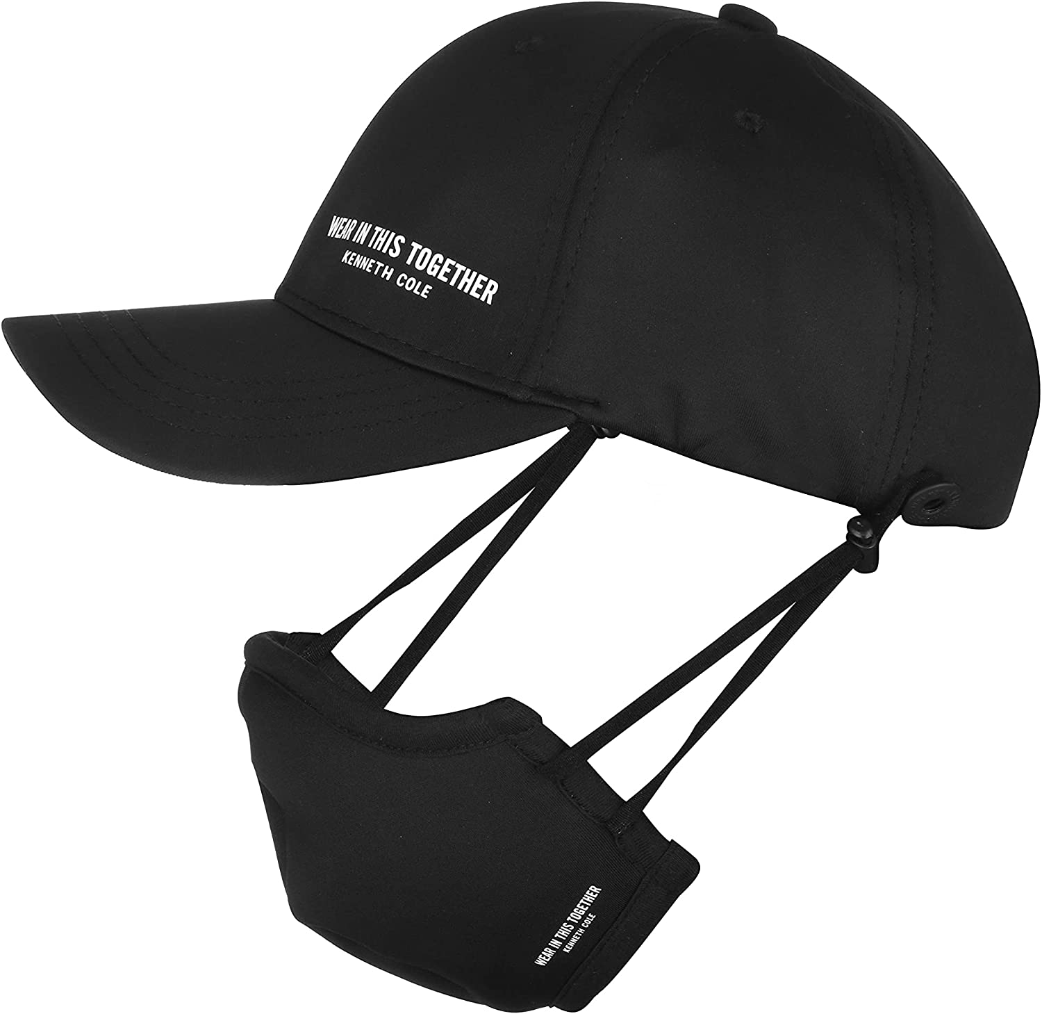 Kenneth Cole Neoprene Hat and Mask Combo Pack of 1 Black