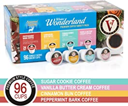 Winter Wonderland Variety Pack for K-Cup Keurig 2.0 Brewers, 96 Count Victor Allen's Coffee Medium Roast Single Serve Coffee Pods