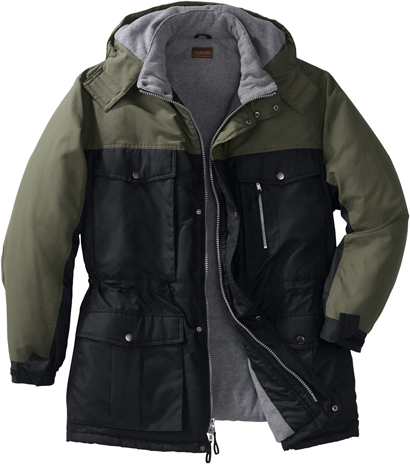 Boulder Creek by Kingsize Mens Big /& Tall Colorblock Expedition Parka Coat