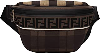 ae7cb83f039 Fendi Brown Belt Bag Fanny Pack with Leather Trim and Knit Fabric with Fendi  logo