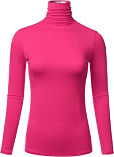 Women's Long Sleeve Lightweight Slim Turtleneck Top Pullover (S-3XL)