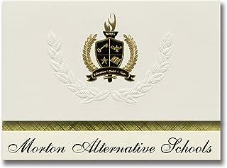 Signature Ankündigungen Morton Alternative Schulen (Cicero, Il) Graduation Ankündigungen, Presidential Stil, Elite Paket 25 Stück mit Gold & Schwarz Metallic Folie Dichtung B078VDXXCD  Stilvoll und charmant