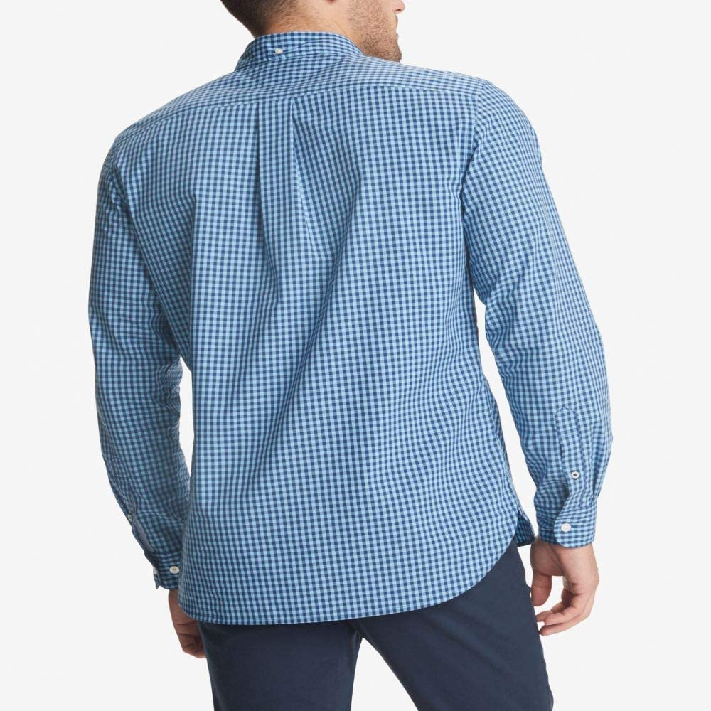 Tommy Hilfiger Men's Long Sleeve No Tuck Button Down Shirt in Custom Fit
