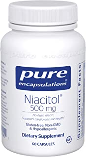 Sponsored Ad - Pure Encapsulations - Niacitol 500 mg - Hypoallergenic No-Flush Niacin to Support Digestion, Hormone Synthe...