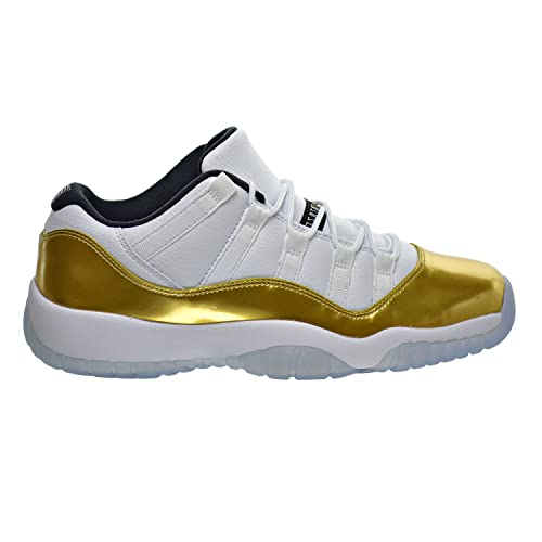 6463faa55f2c Jordan Air 11 Retro Low BG Big Kid s Shoes White Metallic Gold Black 528896