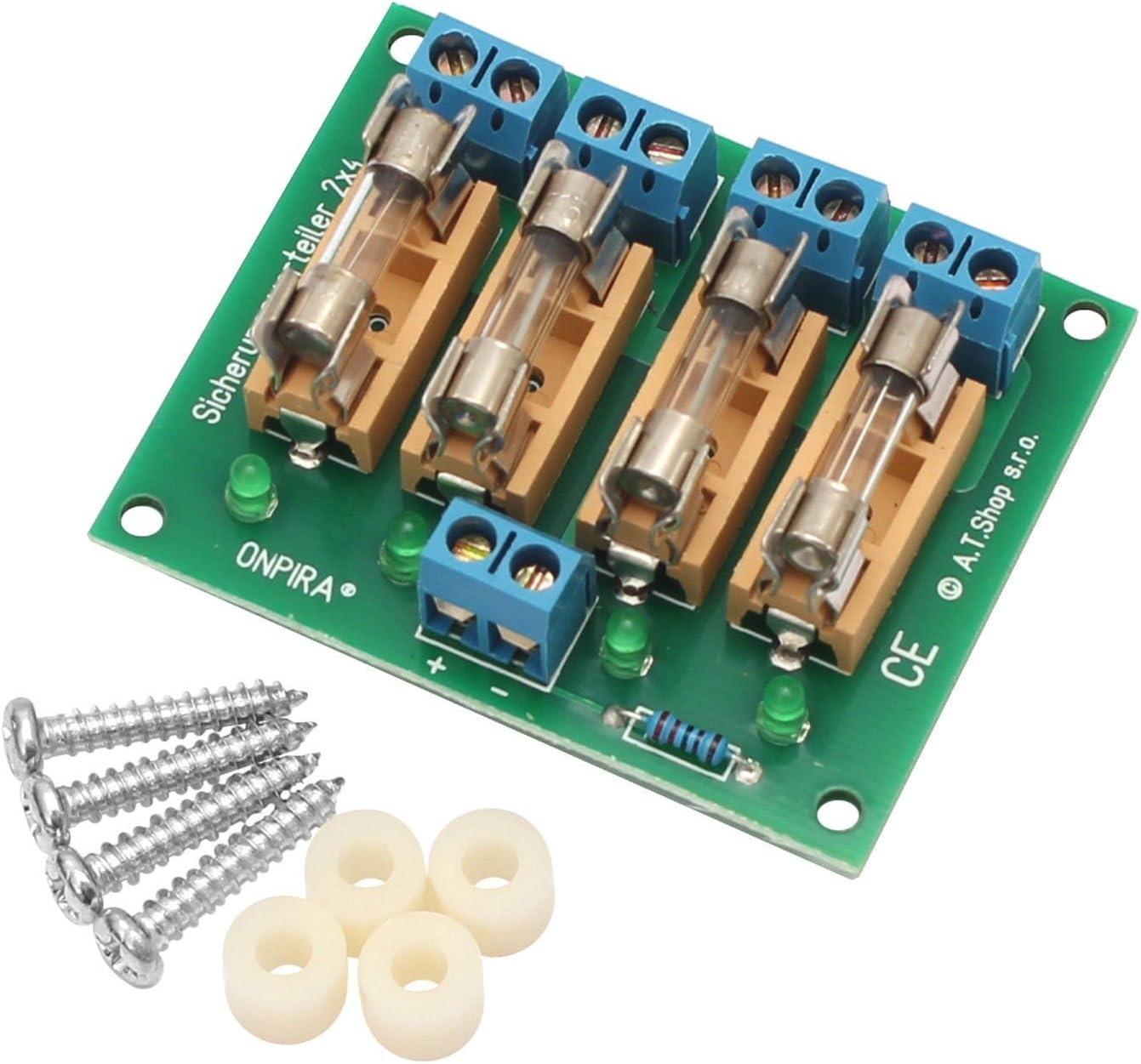 Edelstahlmarkenshop Stromverteiler Verteiler 12a Belastbar Modellbau Sicherungsverteiler 2x4 Spielzeug