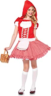 Leg Avenue Childrens Lil Miss Red Costume, Red/White, ...