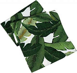 Table Runners 72 Inch x 15 Inch Table Runner Table Cover Green Swaying Palms Tommy Bahama Fabric
