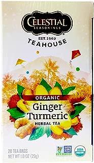 Celestial Seasoning, Ginger & Turmeric , 20 tea bags , Pack of 1