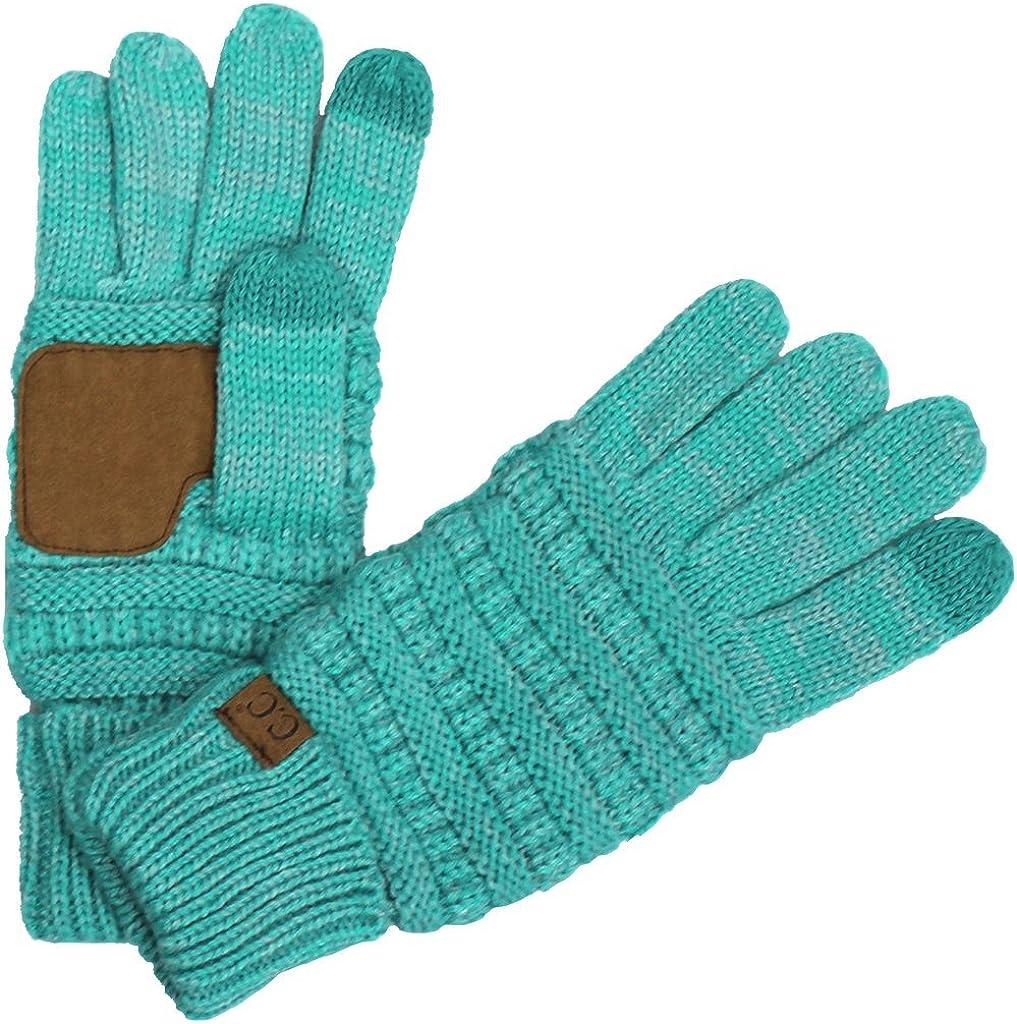 BYSUMMER C. C. Smart Touch Tip Cold Weather Best Winter Gloves (#14Tq/mint)
