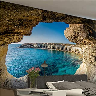 xbwy 3D Mural Photo Wallpaper Modern Cave Seascape Nature Mural Living Room Bedroom Interior Decor-200X140Cm