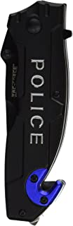 TAC Force TF-525 Series Assisted Opening Folding Knife, Black Half-Serrated Blade, 4-1/2-Inch Closed