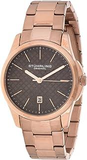 ساعة ستيرلينج اوريجنال سيمفوني للرجال مينا رمادي سوار ستانلس ستيل بلون وردي - 3970.5