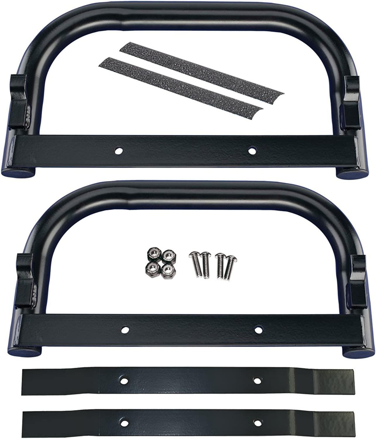 EZGO 609254 Nerf Bar Kit for Gas and Electric Vehicles, Black