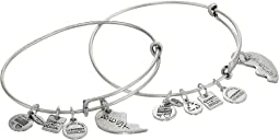 Alex and Ani - Best Friends Set of 2 Charm Bangle