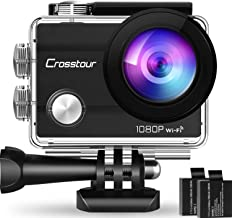 "Crosstour Action Camera 1080P Full HD Wi-Fi 14MP PC Webcam Waterproof Cam 2"" LCD 30m Underwater 170°Wide-Angle Sports Came..."