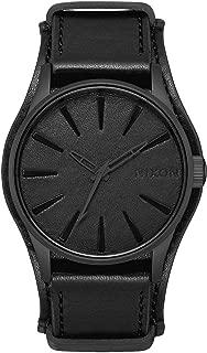 Nixon Mens Sentry Leather Metallica Collection - Black Album