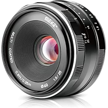 Meike 25mm F1.8 Large Aperture Wide Angle Lens Manual Focus Lens for Olypums Panasonic M43 Mount Mirrorless Cameras