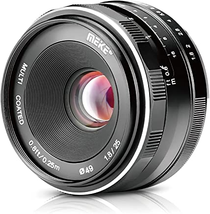 Meike MK 25mm F1.8 Large Aperture Wide Angle Lens Manual Focus Lens for Sony E Mount Mirrorless Cameras