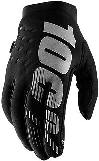 100% 2019 Brisker Colder Weather Gloves (Medium) (Black/Grey)
