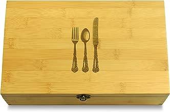 Cookbook People Silverware Multikeep Box - Moving Wall Sustainable Bamboo Adjustable Organizer