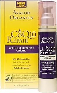 Avalon Organics Organics CoQ10 Repair Wrinkle Defense Creme Broad Spectrum SPF15 (SPF 15), 1.75 oz