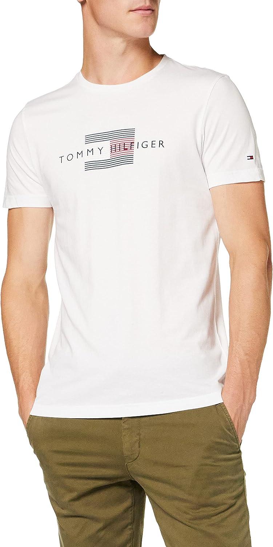 Tommy Hilfiger Lines Hilfiger tee Camiseta para Hombre